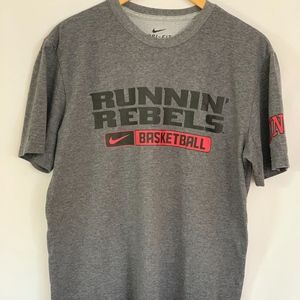 Nike Dri-Fit Runnin' Rebels Gray T-Shirt